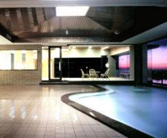当ホテル自慢の最上階展望風呂